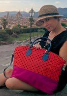 アミーカマコ AmicaMako MARAKITA マラキタ 赤い水玉バッグ イタリア製バッグ