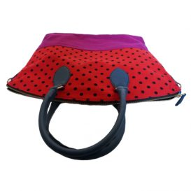 AmicaMako マラキタ MARAKITA イタリア製バッグ 赤い水玉バッグ