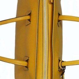 AmicaMako イタリア製バッグ 革バッグ 黄色いバッグ シルヴァーノ・ジュリアーニ