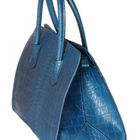 AmicaMako イタリア製バッグ 革バッグ 青いバッグ シルヴァーノ・ジュリアーニ