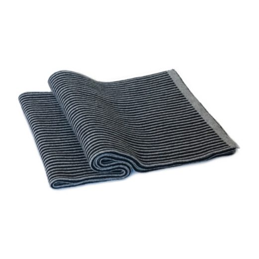 Black and Gray Stripe Muffler