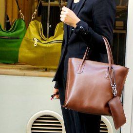 【Silvano Giuliani】チョコレートブラウン 本革トートバッグ(小)