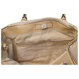 【Silvano Giuliani】ベージュグレイ 本革2wayハンドバッグ