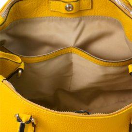 【Silvano Giuliani】ベルガモットイエロー 本革2wayバッグ