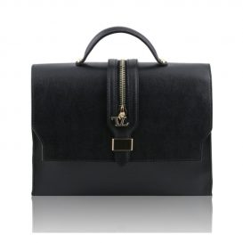 カーフレザー・サフィアーノ加工のハンドバッグ TL Bag