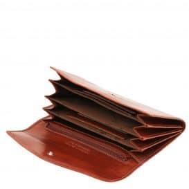 イタリア製フルグレインレザーのアコーディオンタイプ財布、詳細