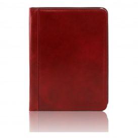 OTTAVIO イタリア製本革ベジタブルタンニンレザーのドキュメントケース・レッド・赤