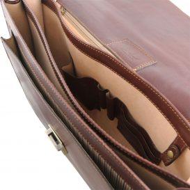 イタリア製ベジタブルタンニンレザーのビジネスバッグ ROMA、詳細5