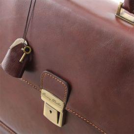 イタリア製ベジタブルタンニンレザーのビジネスバッグ ROMA、詳細7