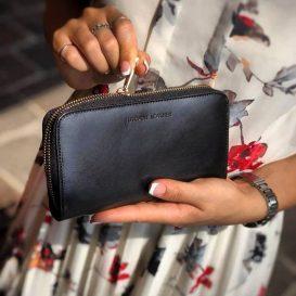 イタリア製フルグレインレザーのレディース長財布、イメージ