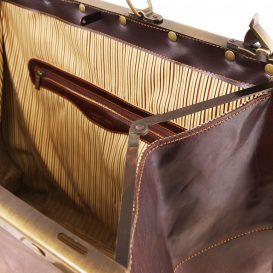 イタリア製ベジタブルタンニンレザーのクラシック調ボストンバッグ MADRID(Lサイズ)、詳細2