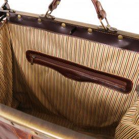イタリア製ベジタブルタンニンレザーのクラシック調ボストンバッグ MADRID(Lサイズ)、詳細3