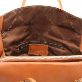 タッセルつき柔らかいソヴァージュレザーのショルダーバッグTL Bag