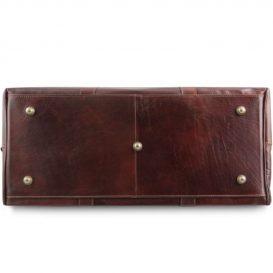 イタリア製本牛革ベジタブルタンニンレザーの旅行ボストンバッグ・表ポケットあり - Sサイズ TL VOYAGER詳細