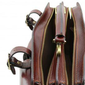 イタリア製ベジタブルタンニンレザーのショルダーバッグ TANIA(Mサイズ)、詳細5