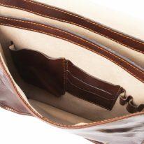 イタリア製ベジタブルタンニンレザーのメッセンジャーバッグ TL Postman、詳細6