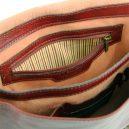 イタリア製本牛革ベジタブルタンニンレザーのメッセンジャーバッグ TL Postman、ブラウン、茶色、詳細6