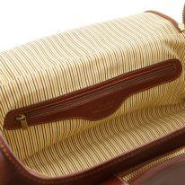 イタリア製ベジタブルタンニンレザーのサイドポケット付ボストンバッグTL VOYAGER(Mサイズ)、詳細5
