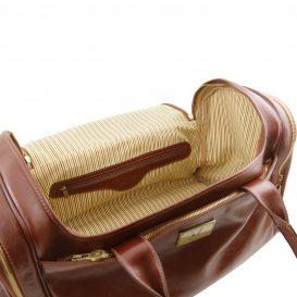 イタリア製ベジタブルタンニンレザーのサイドポケット付ボストンバッグTL VOYAGER(Mサイズ)、詳細6