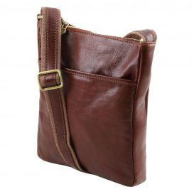 イタリア製JASON 本牛革ベジタブルタンニンレザーの斜めがけバッグ、詳細1