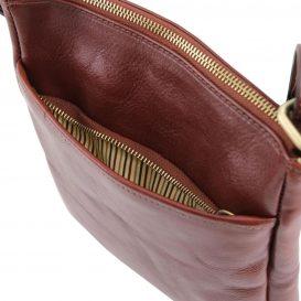 イタリア製JASON 本牛革ベジタブルタンニンレザーの斜めがけバッグ、詳細3