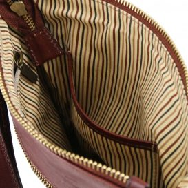 イタリア製JASON 本牛革ベジタブルタンニンレザーの斜めがけバッグ、詳細4