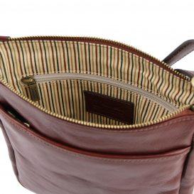 イタリア製JASON 本牛革ベジタブルタンニンレザーの斜めがけバッグ、詳細5