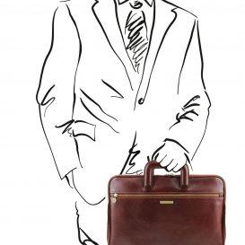 CASERTA イタリア製ベジタブルタンニンレザーのビジネスバッグ