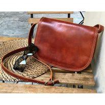 イタリア製ベジタブルタンニンレザーのショルダーバッグ ISABELLA、イメージ