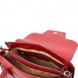 イタリア製フルグレインレザーのハンドバッグ TL NEOCLASSIC、レッド、詳細2