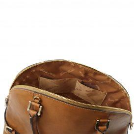 イタリア製ベジタブルタンニンレザーのハンドバッグ詳細3