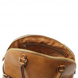 イタリア製ベジタブルタンニンレザーのハンドバッグ詳細2