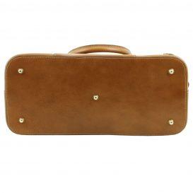 イタリア製ベジタブルタンニンレザーのハンドバッグ詳細1
