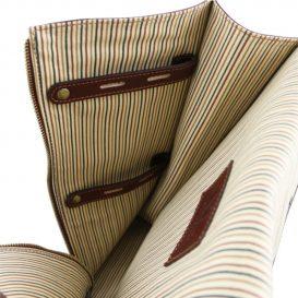 イタリア製ベジタブルタンニンレザーのシャツ&ネクタイケース、詳細4