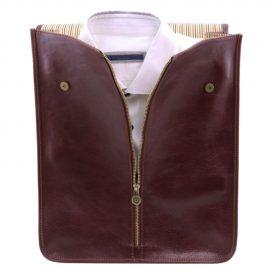 イタリア製ベジタブルタンニンレザーのシャツ&ネクタイケース、詳細5