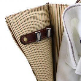 イタリア製ベジタブルタンニンレザーのシャツ&ネクタイケース、詳細7