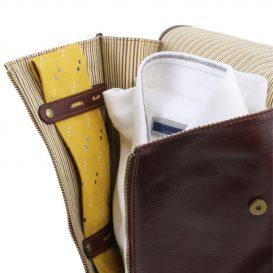 イタリア製ベジタブルタンニンレザーのシャツ&ネクタイケース、詳細8