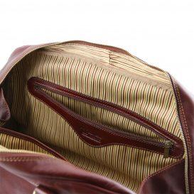 イタリア製ベジタブルタンニンレザーのスポーティーバッグ TL VOYAGER(Mサイズ)、詳細5