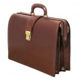イタリア製ベジタブルタンニンレザーのダレスバッグ CANOVA、詳細1