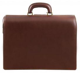 イタリア製ベジタブルタンニンレザーのダレスバッグ CANOVA、詳細2