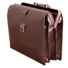 イタリア製ベジタブルタンニンレザーのダレスバッグ CANOVA、詳細3