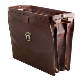 イタリア製ベジタブルタンニンレザーのダレスバッグ CANOVA、詳細4