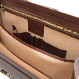 イタリア製ベジタブルタンニンレザーのダレスバッグ CANOVA、詳細6
