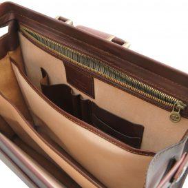 イタリア製ベジタブルタンニンレザーのダレスバッグ CANOVA、詳細7