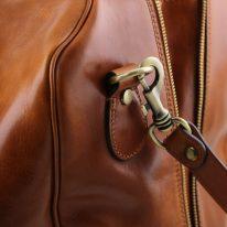 イタリア製ベジタブルタンニンレザーのフロントポケット付きボストンバッグTL VOYAGER、詳細5
