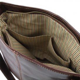 CHARLOTTE ベジタブルタンニンレザーのショルダーバッグ