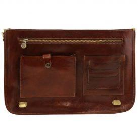 イタリア製CERTALDO ベジタブルタンニンレザーのビジネスバッグ