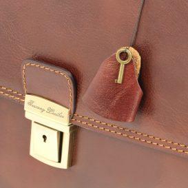 イタリア製ベジタブルタンニンレザーのビジネスバッグ AMALFI、詳細6