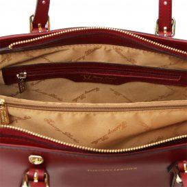 AURA ルーガ・カーフレザーの2WAYミニトートバッグ