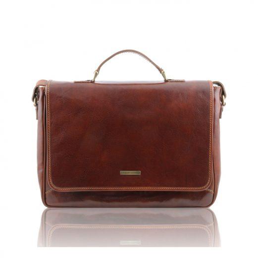 PADOVAイタリア製 ベジタブルタンニンレザーのビジネスバッグ・ブラウン・茶色